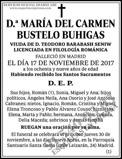 María del Carmen Bustelo Buhigas